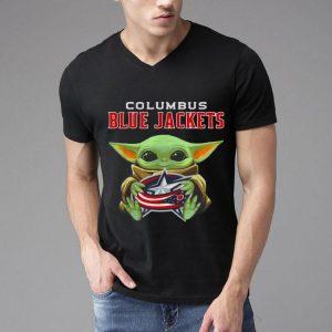 Baby Yoda Hug Ball Columbus Blue Jackets shirt