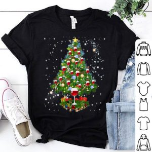 Beautiful Christmas Tree Wine Glass - Merry Xmas Funny Party Tee sweater
