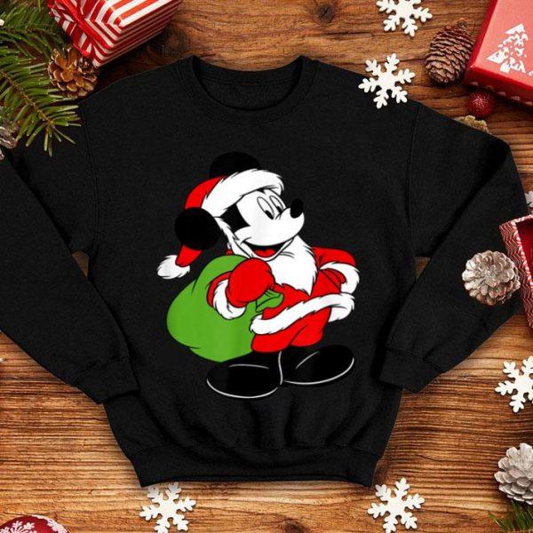 Beautiful Disney Mickey Mouse Santa's Gift Bag Christmas sweater
