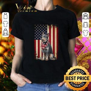 Cool Australian Cattle dog American flag shirt