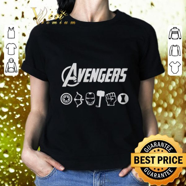 Cool Avengers Endgame Captain America Hawkeye Iron Man Thor Hulk Black Widow shirt