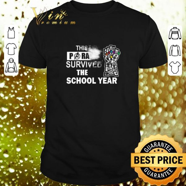Cool Avengers This Paraprofessional survived the school year shirt