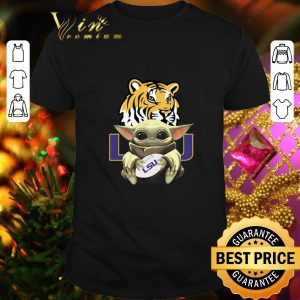 Cool Baby Yoda Hug LSU Tigers Star Wars shirt