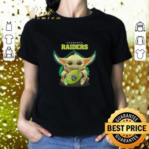Cool Baby Yoda hug Canberra Raiders Star Wars shirt 1