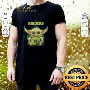 Cool Baby Yoda hug Canberra Raiders Star Wars shirt 2