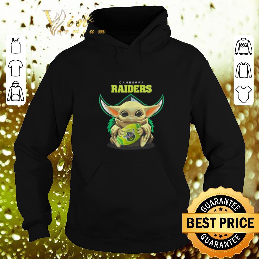 Cool Baby Yoda hug Canberra Raiders Star Wars shirt 4 - Cool Baby Yoda hug Canberra Raiders Star Wars shirt