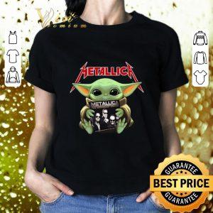 Cool Baby Yoda hug Metallica Star Wars shirt 1