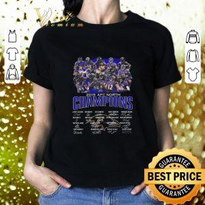 Cool Baltimore Ravens Logo 2019 AFC North Champions all signature shirt