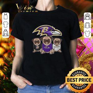 Cool Baltimore Ravens Pugs shirt