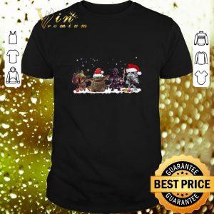 Cool Boba Fett Baby Yoda Darth Vader R2D2 chibi Christmas shirt