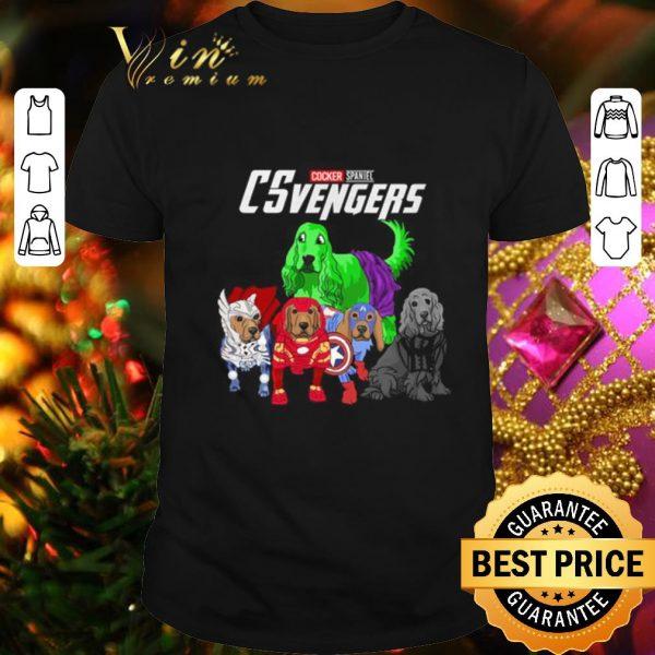 Cool Cocker Spaniel CSvengers Marvel Avengers Endgame shirt
