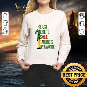 Cool Elf Buddy Hobbs i just like to smile smiling's my favorite shirt