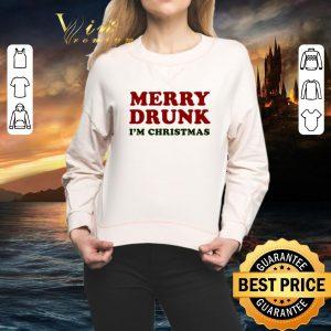Cool Merry drunk i'm Christmas shirt