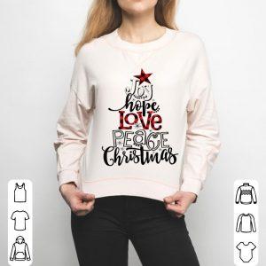Nice Christmas Tee, Joy Hope Love Peace Christmas, Christmas Tree sweater