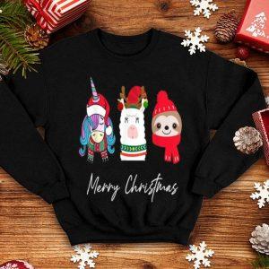 Nice Merry Christmas Cute Unicorn Llama Reindeer Sloth Gifts Kids sweater