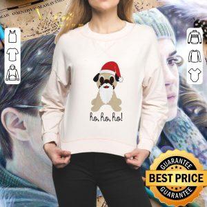 Nice Pug dog santa ho ho ho Christmas shirt
