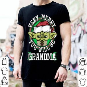 Nice Star Wars Yoda Merry You Will Be Grandma Christmas sweater