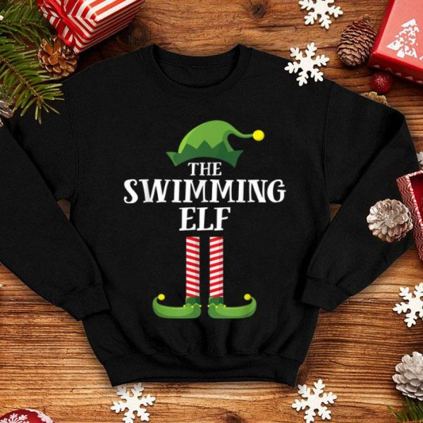 Nice Swimming Elf Matching Family Group Christmas Party Pajama sweater
