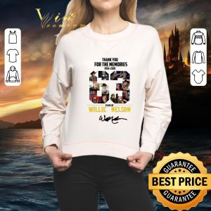 Nice Thank You For The Memories 1956-2019 63 Years Of Willie Nelson Signature shirt 1