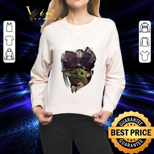 Official Baby Yoda The Mandalorian Torn Paper Star Wars shirt