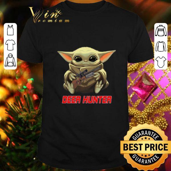 Official Baby Yoda hug Deer Hunter Star Wars Mandalorian shirt