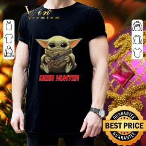 Official Baby Yoda hug Deer Hunter Star Wars Mandalorian shirt 2