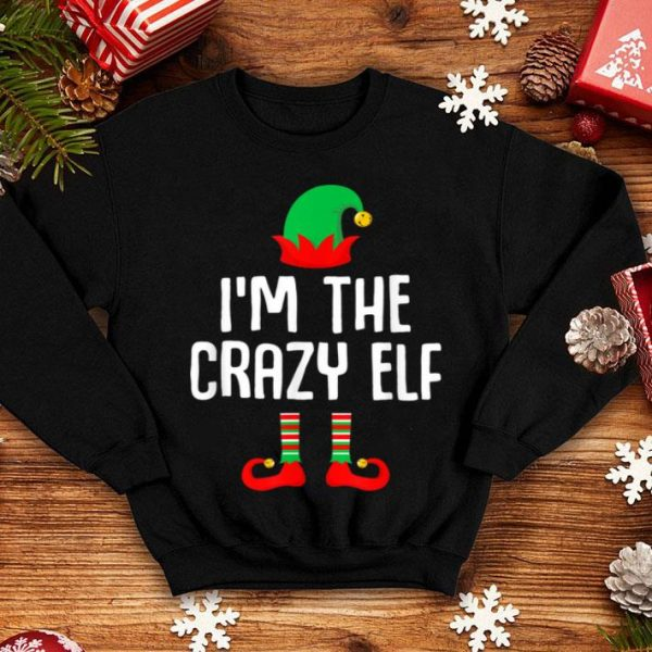 Official I'm The Crazy Elf Matching Family Group Christmas sweater