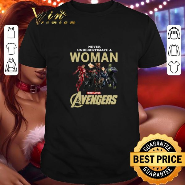Official Never underestimate a woman who lovers Avengers Endgame Marvel shirt