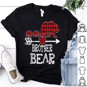 Official Red Plaid Brother Bear Two Cubs Matching Buffalo Pajama Xmas sweater