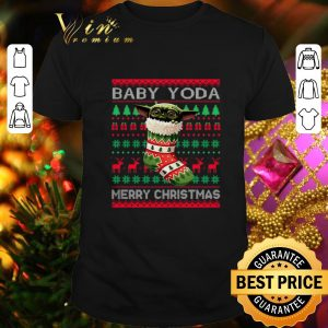 Official Socks Baby Yoda Merry Christmas Ugly sweater