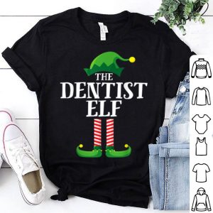 Premium Dentist Elf Matching Family Group Christmas Party Pajama sweater