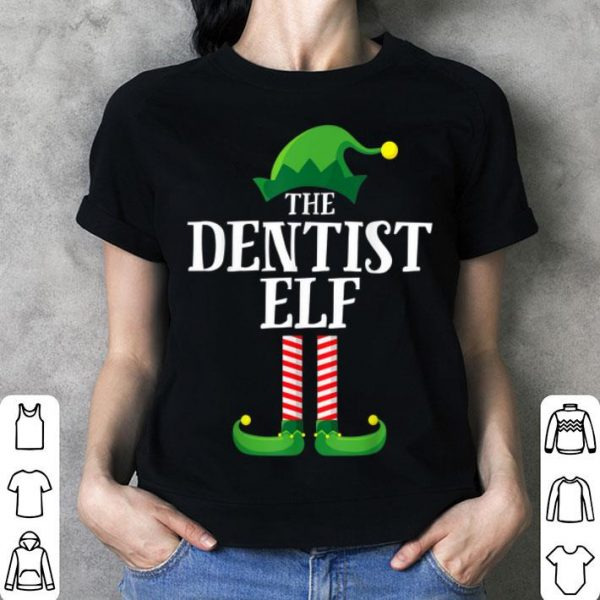 Premium Dentist Elf Matching Family Group Christmas Party Pajama sweater