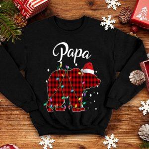 Premium Red Plaid Papa Bear Matching Buffalo Pajama sweater