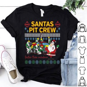 Premium Santa's Pit Crew Race Car Ugly Christmas sweater