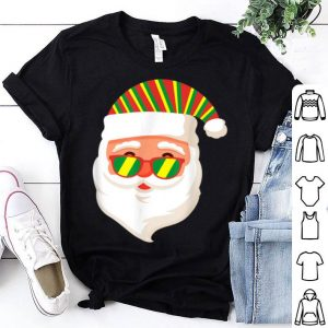 Pretty Rasta Colors Flag Santa Claus Tee Rastafari Christmas sweater