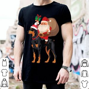 Pretty Santa Riding Doberman Christmas Pajama Gift sweater