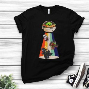 Star Wars Baby Yoda Darth Vader UFO shirt
