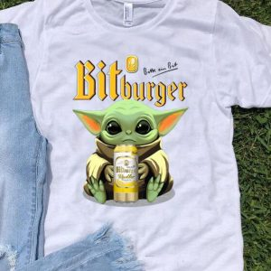 Star Wars Baby Yoda Hug Bit Burger Beer Lovers shirt