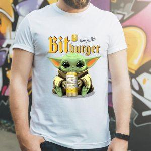Star Wars Baby Yoda Hug Bit Burger Beer Lovers shirt