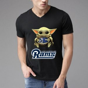 Star Wars Football Baby Yoda Hug Los Angeles Rams shirt