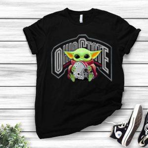 Star Wars Football Baby Yoda Hug Ohio State Buckeyes shirt