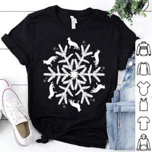 Top German Shepherd Christmas Snowflake sweater