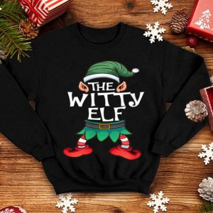 Top The Witty Elf Group Matching Family Christmas Gift Holiday sweater