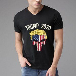 Trump 2020 Skull US Flag shirt