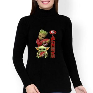 Baby Yoda And Baby Groot Hug San Francisco 49ers shirt