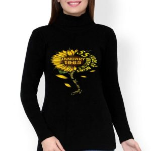 January 55 Years Of Being Awesome Sunflower shirt