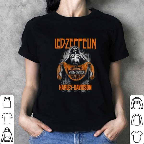 Led Zeppelin Skull Motor Harley Davidson Cycles shirt