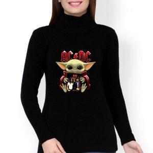 Star Wars Baby Yoda Hug ACDC shirt