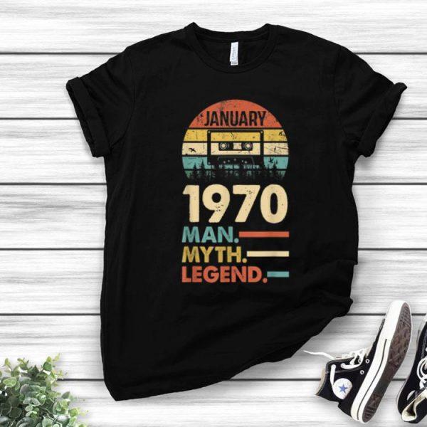 Vintage 1970 January The Man The Myth The Legend shirt