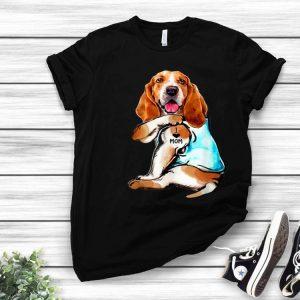 Basset Hound I Love Mom Tattoo Mother's Day Dog Lovers shirt